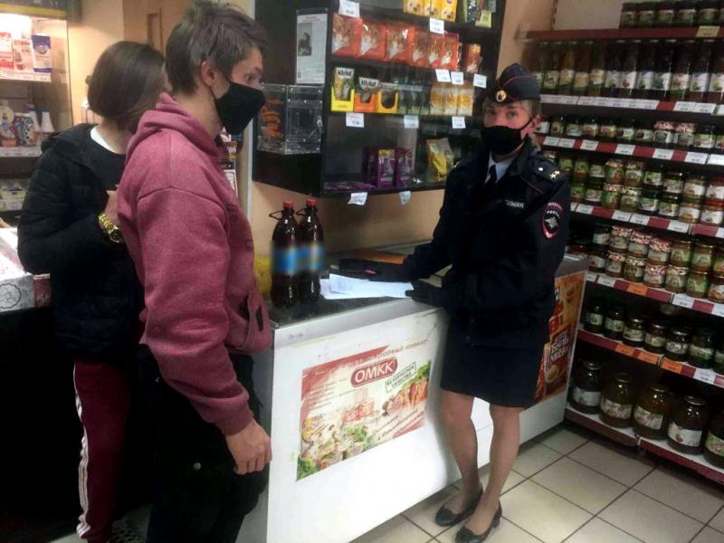 Брянские полицейские задержали 44 пьяных подростков