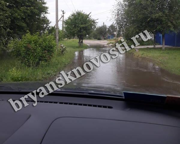 В Новозыбкове разлилась река на улице Брянской