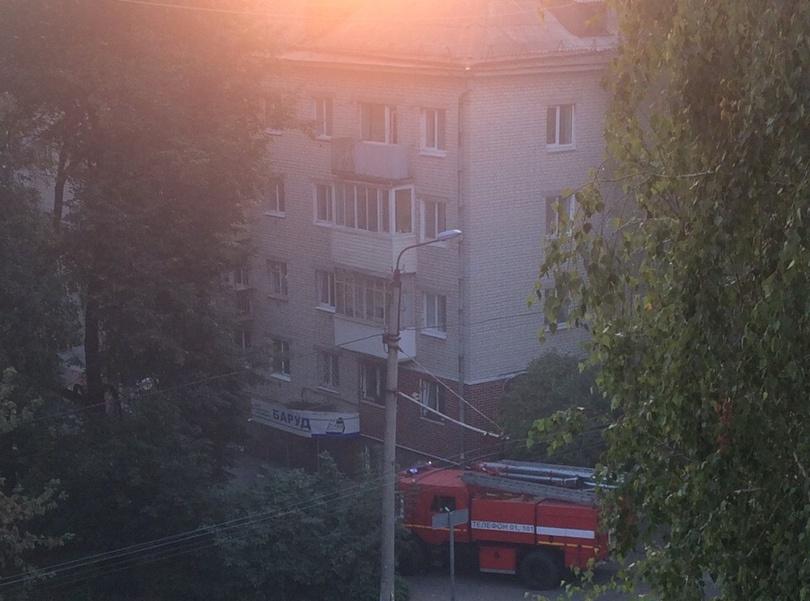 Брянцы сообщают о пожаре за ЦУМом