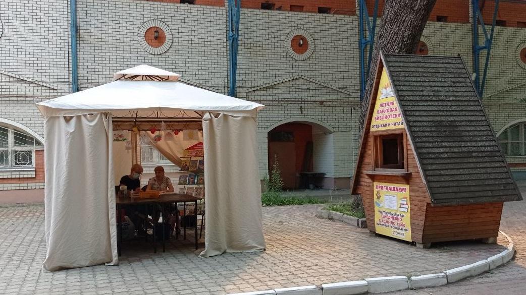 В Брянских парках заработали летние детские библиотеки
