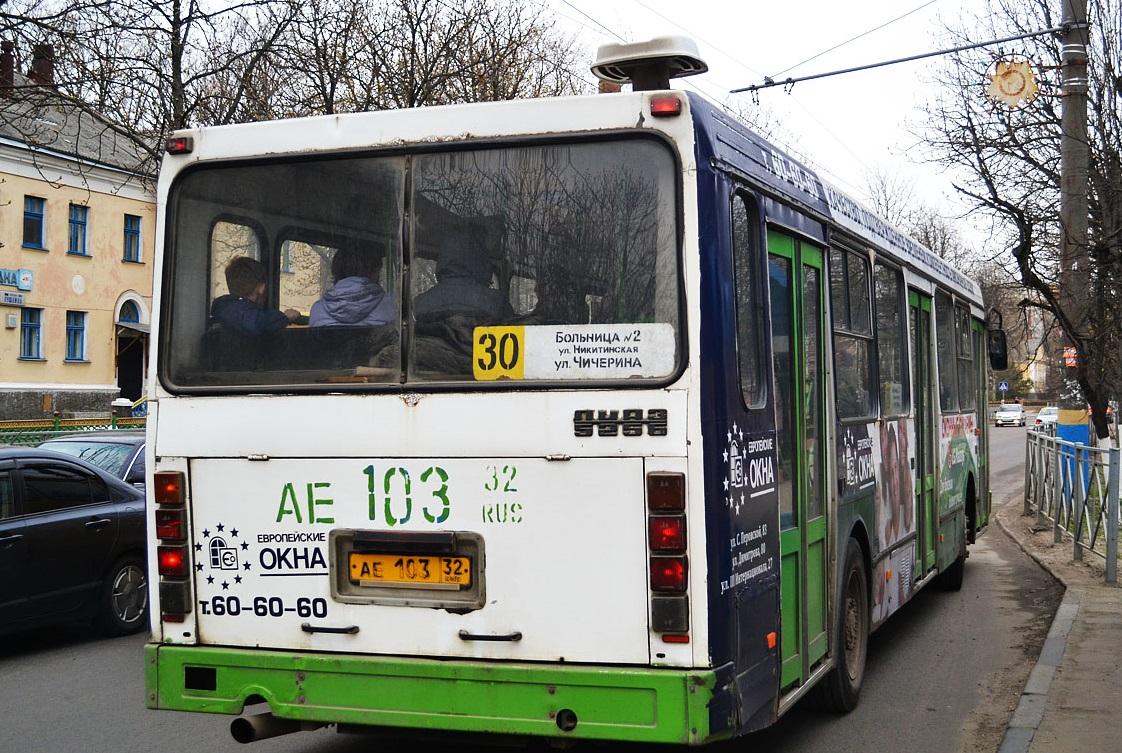В Брянске изменится расписание движения буднего автобуса №30