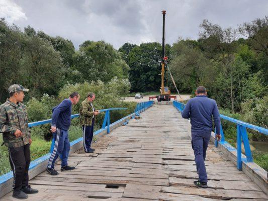 В городе Сельцо Брянской области начался долгожданный ремонт моста