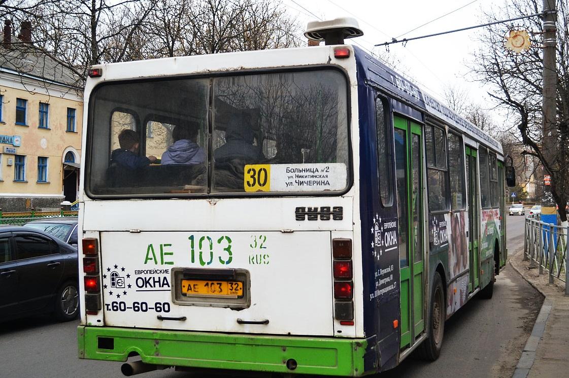 В Брянске с 8 сентября изменилось расписание автобуса №30 в рабочие дни
