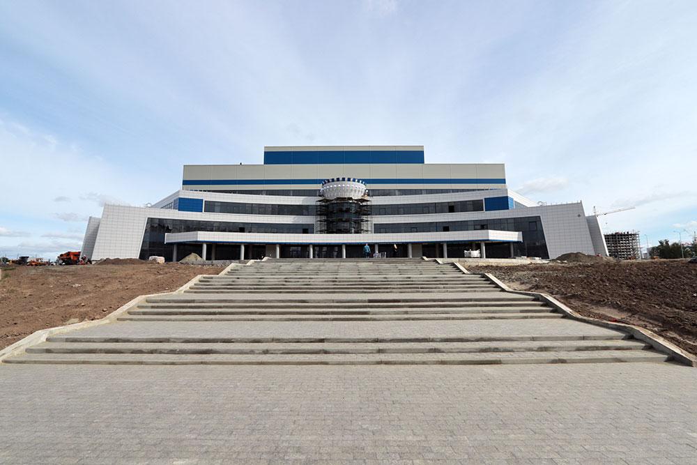 В Брянске завершают строительство Дворца единоборств за 2 млрд рублей