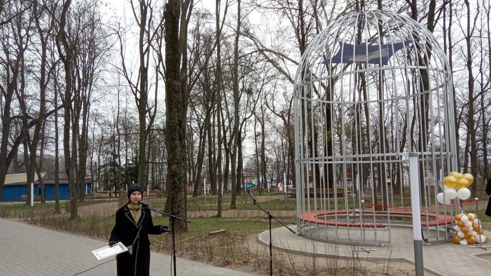 В брянском городе Новозыбкове открыли поющую беседку
