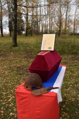 В Жирятинском районе перезахоронили останки рядового Великой Отечественной войны