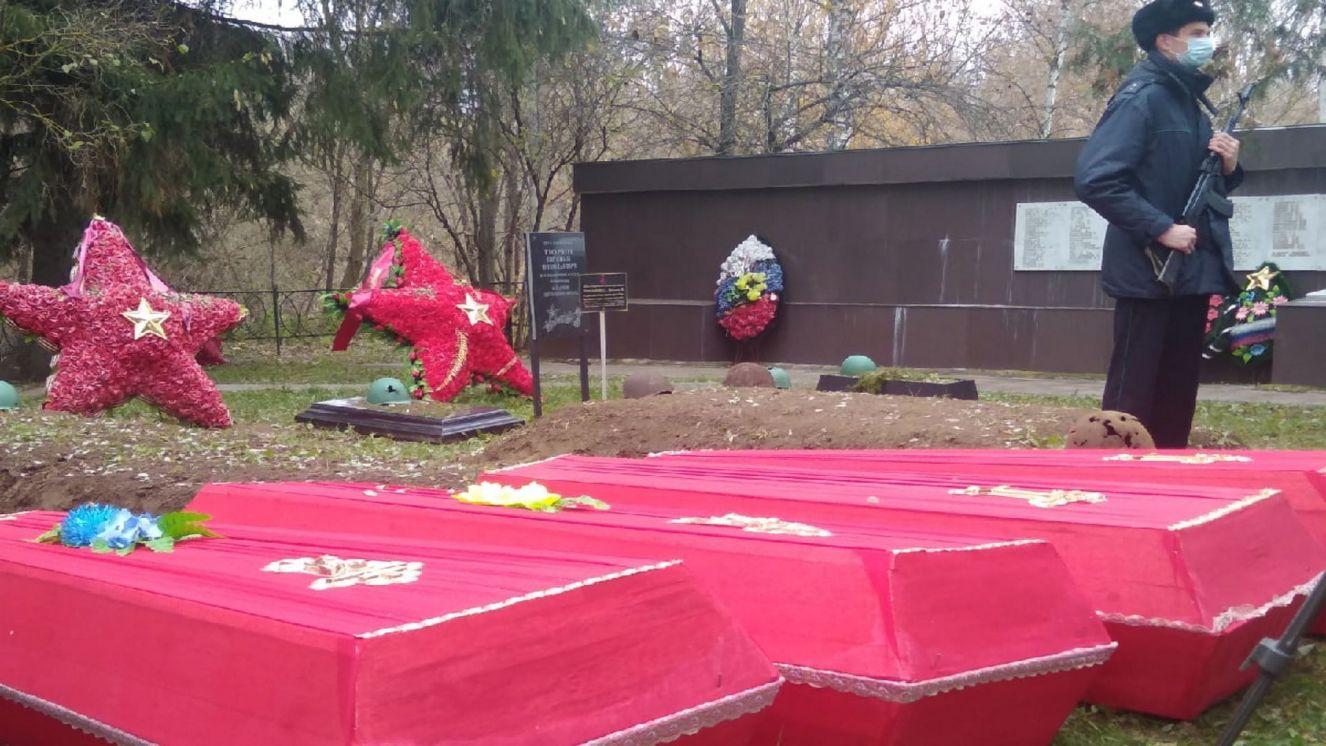 В населенных пунктах Севского района перезахоронили останки 43 красноармейцев