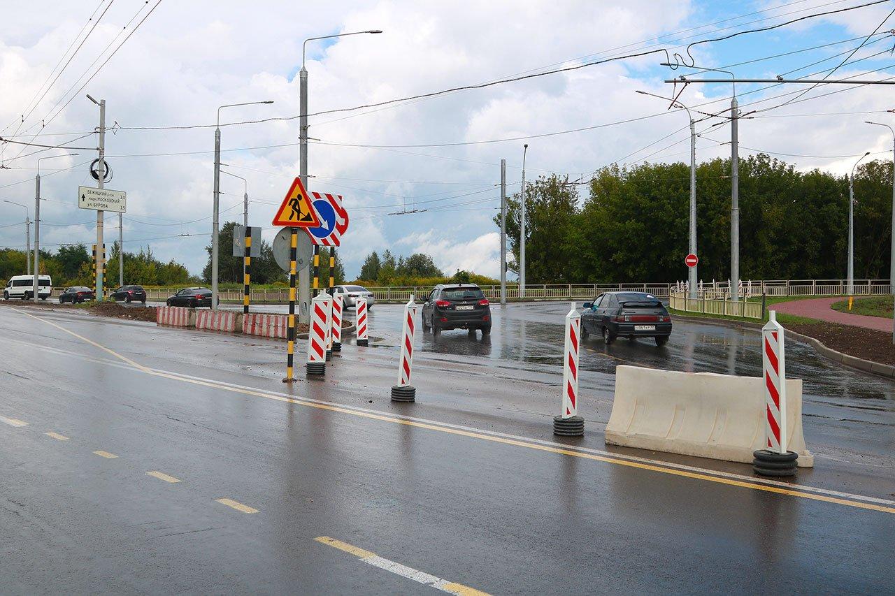 В Брянске начали расширять дорогу на улице Объездной