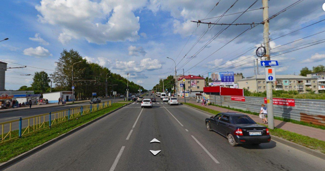 В Брянске на проспекте Станке Димитрова подрядчик укладывает асфальт