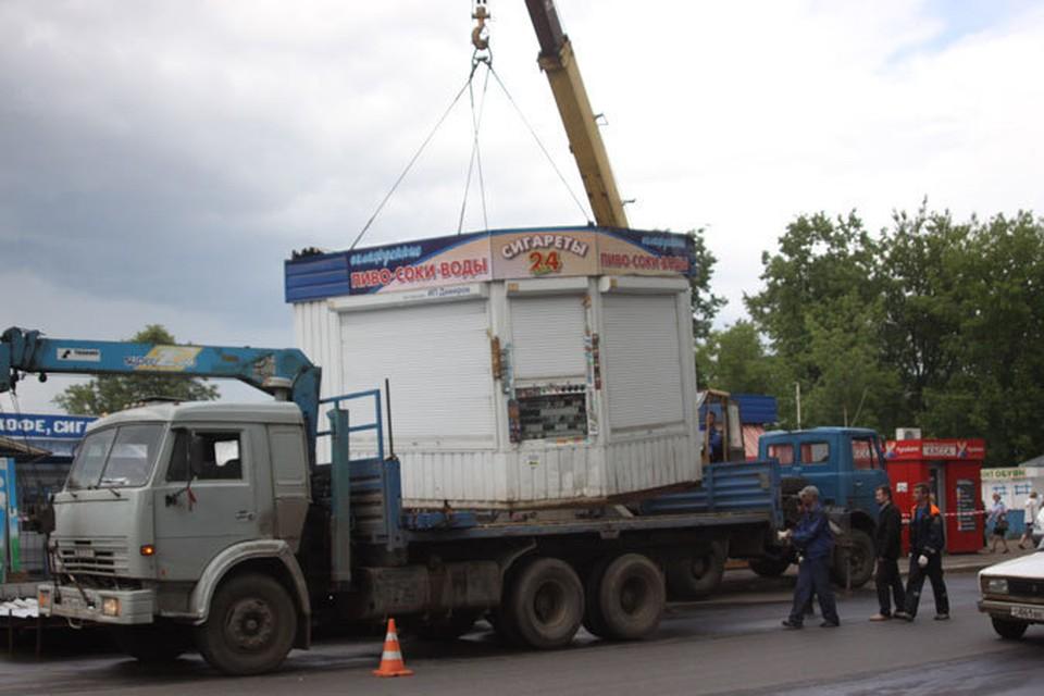 С улиц Брянска по решению власти уберут еще пять торговых киосков