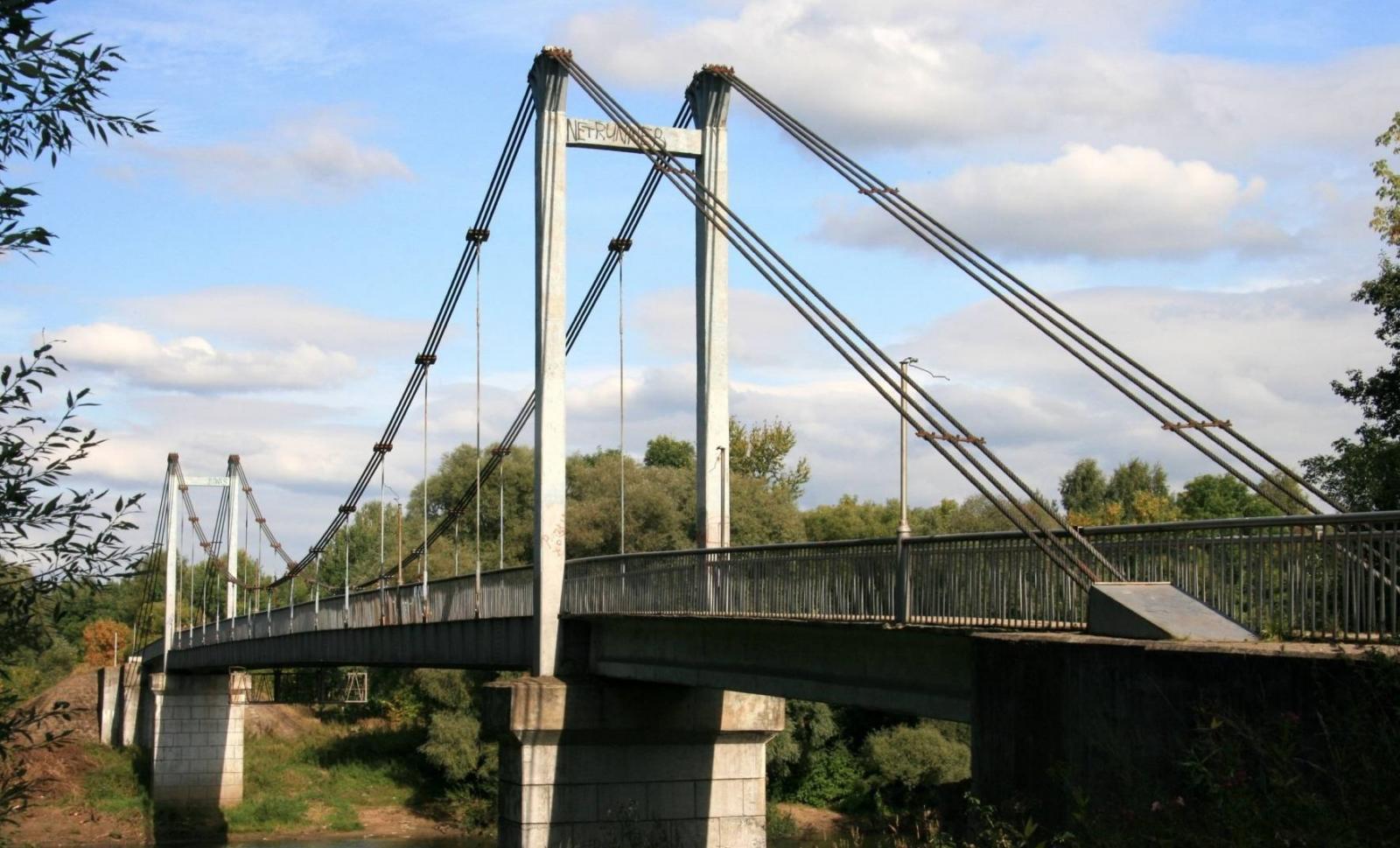 Житель Брянска в одиночку приступил к обновлению Голубого моста