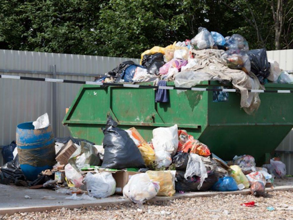 В Брянске сняли на фото гору мусора возле кафе «Burger King»