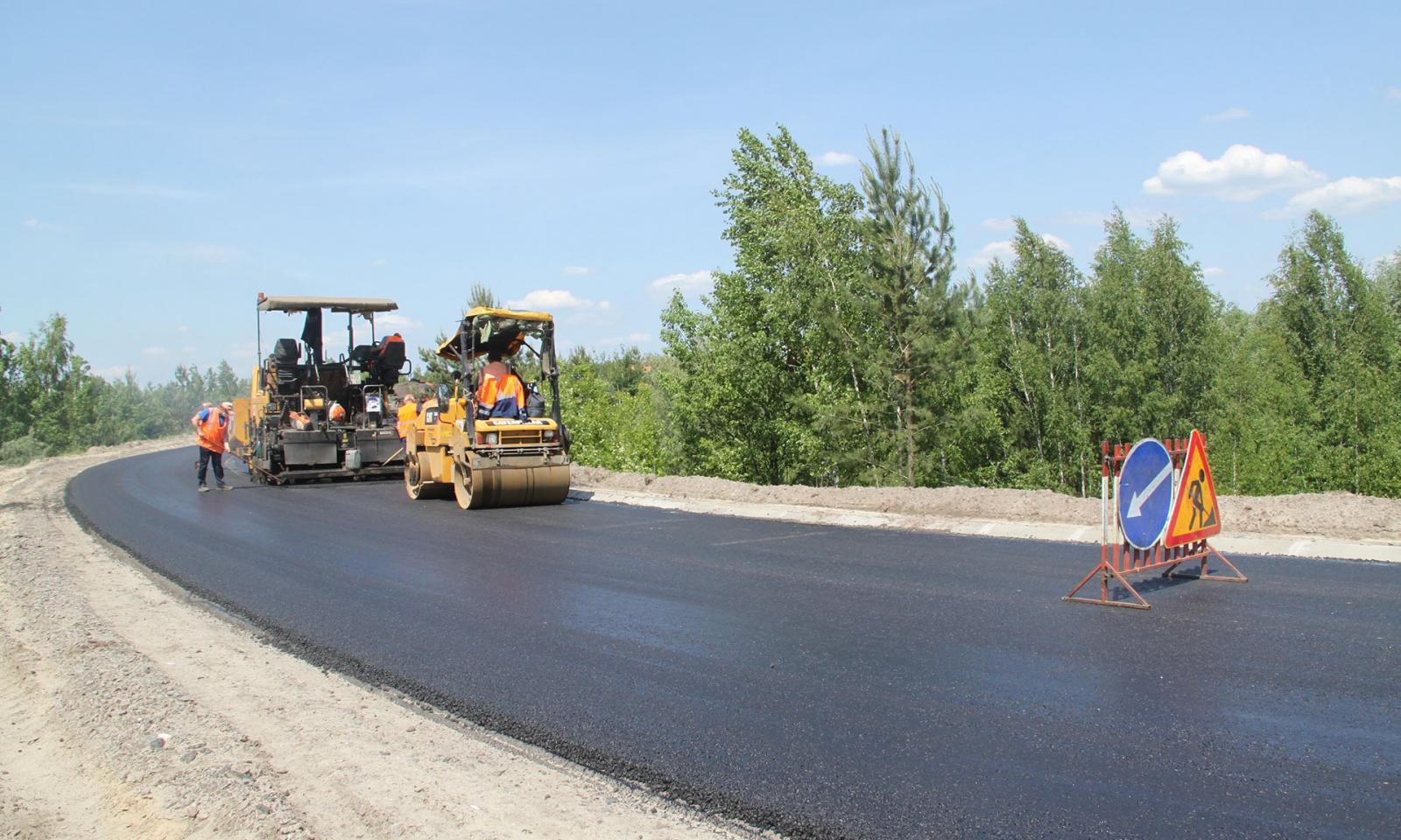 В Брянской области завершается ремонт автодороги Дятьково-Любохна