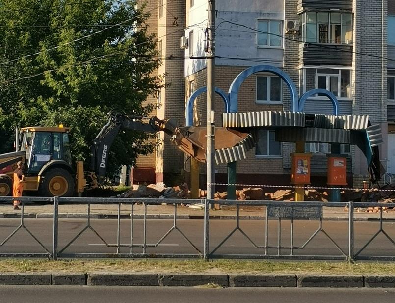 В Фокинском районе на Мясокомбинате сносят остановку