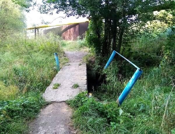 В Новозыбкове разваливается мост через озеро Карна
