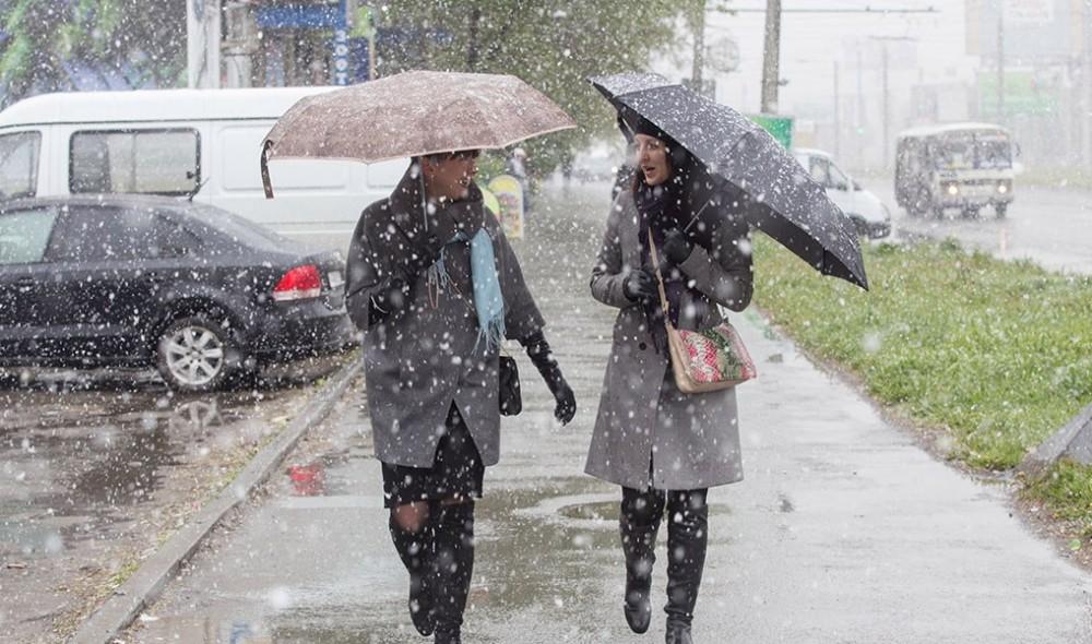 Новая неделя в Брянской области начнется с мокрого снега с дождя