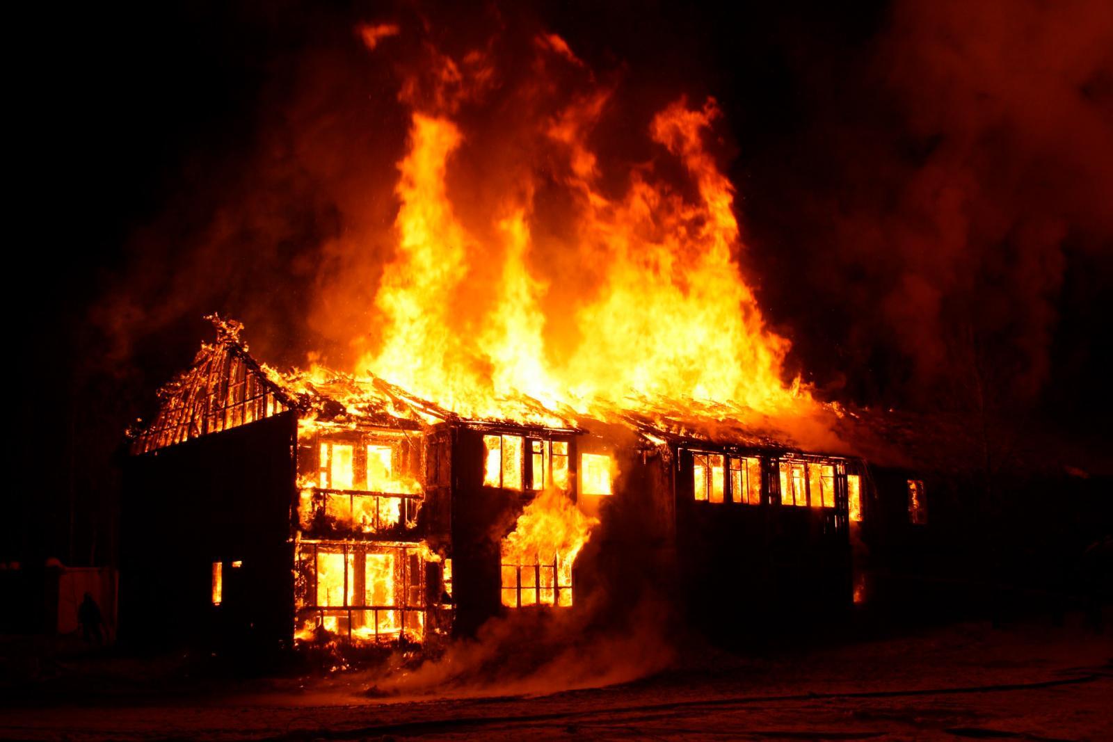 В Брянске недалеко аэропорта произошел пожар