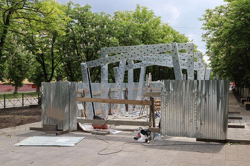 Обновленный сквер имени Игната Фокина в Брянске откроют в начале июня