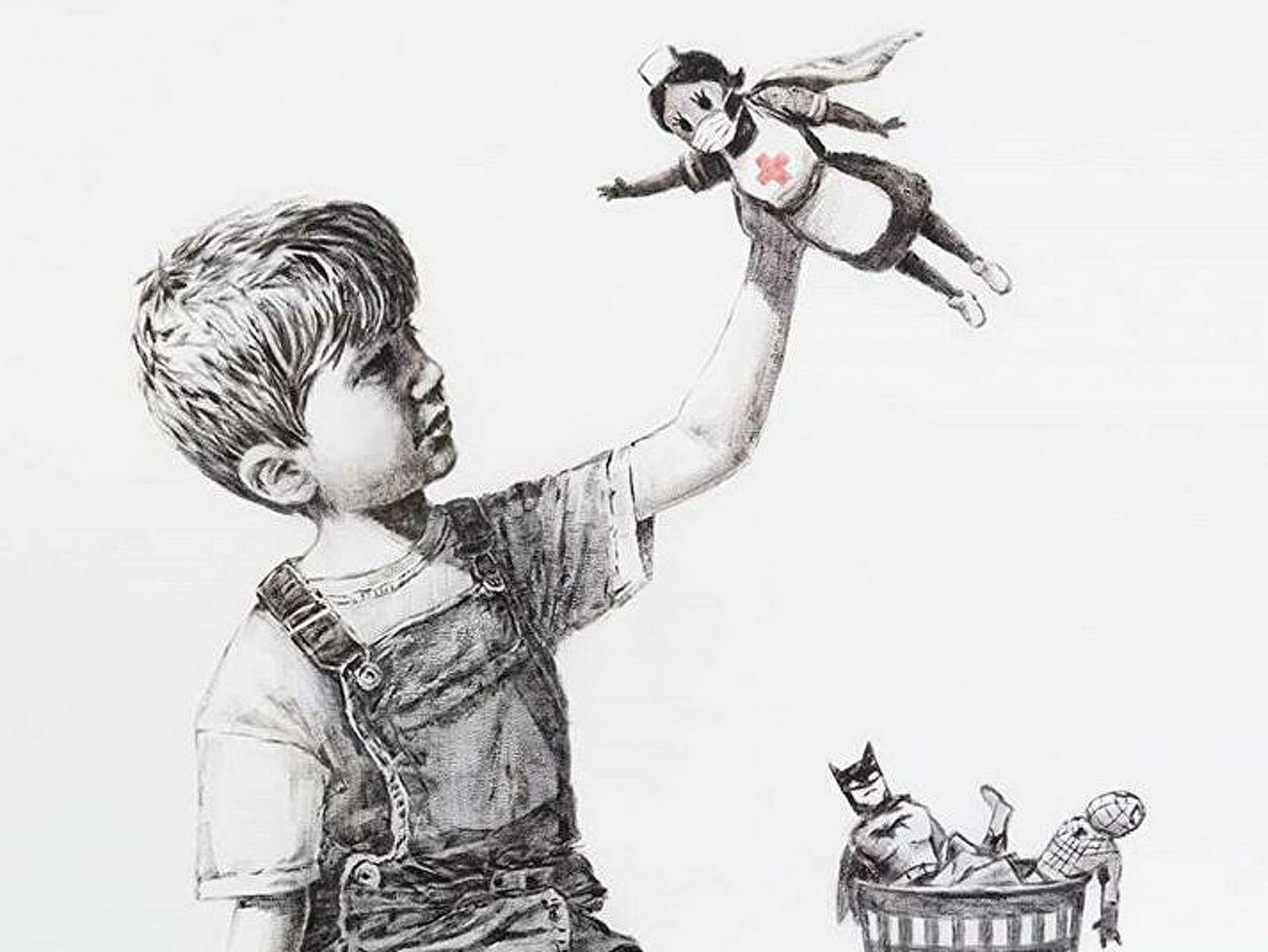 Появится огромная копия картины анонимного художника Бэнкси для медиков в Брянске