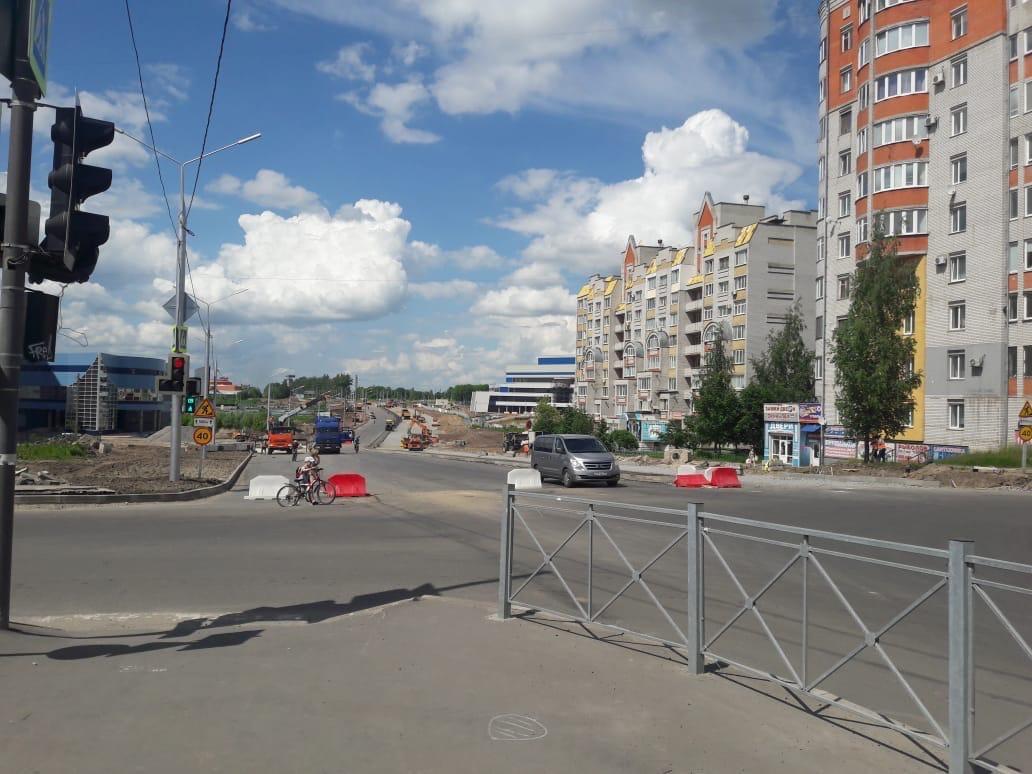 В Брянске продолжается расширение дороги по улице Объездной