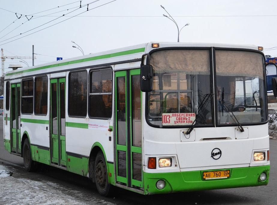 Автобусный маршрут №103 в августе продлят до вокзала «Брянск-I»