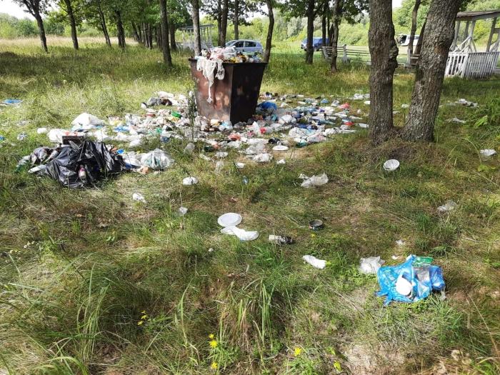 В Гордеевском районе на берегу реки Ипуть отдыхающие организовали свалку