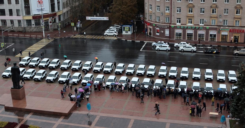 Районным больницам Брянской области передали 42 автомобиля «Лада Нива»