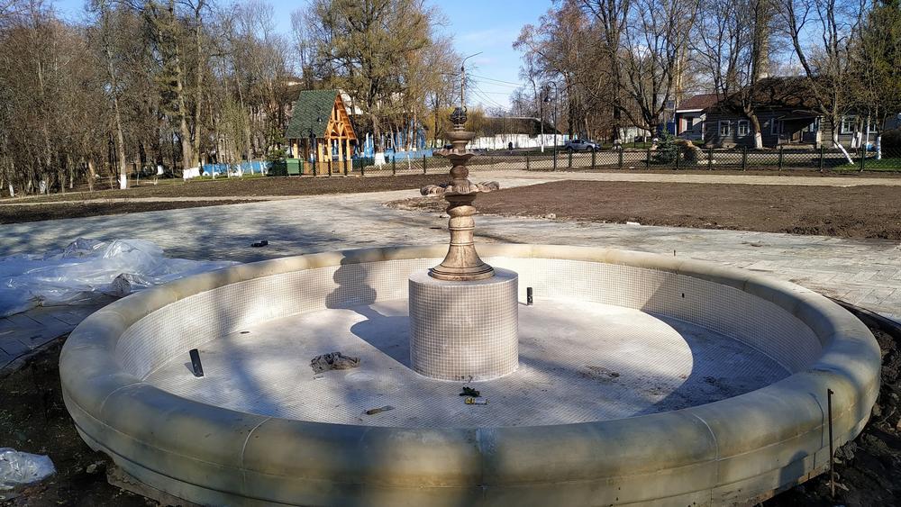 В усадьбе Михаила Романова в Брасовском районе провели пробный запуск фонтанов