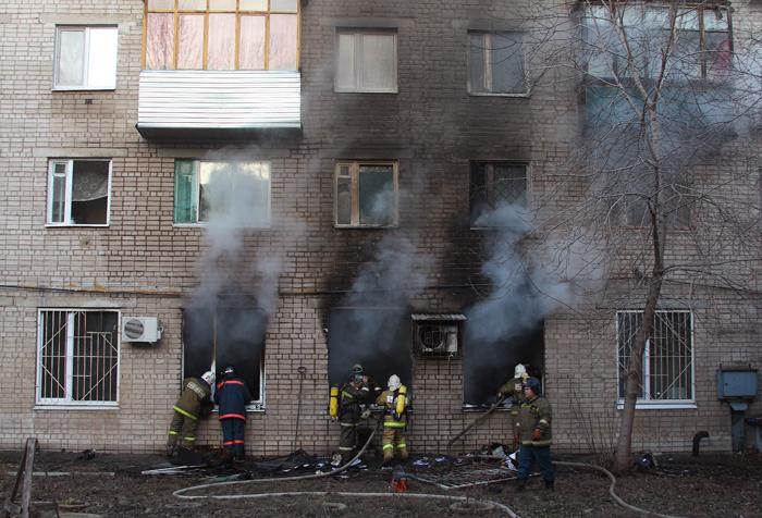 В городе Стародубе Брянской области загорелась квартира