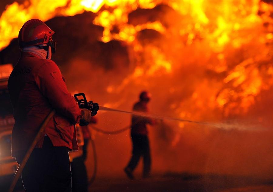 Под Карачевом во время пожара пострадал человек
