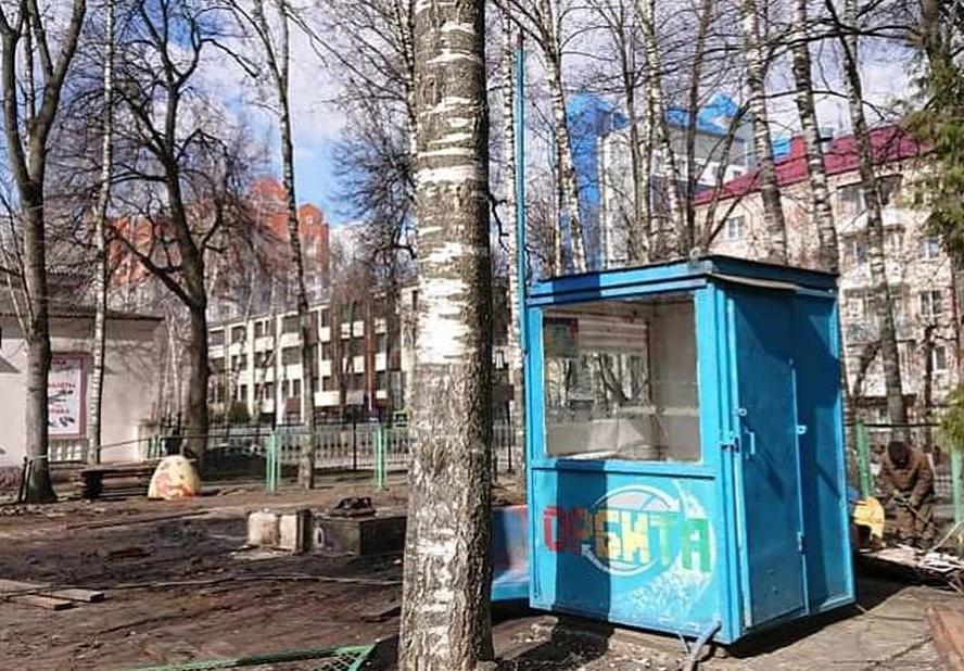 В парке Толстого в Брянске разобрали аттракционы