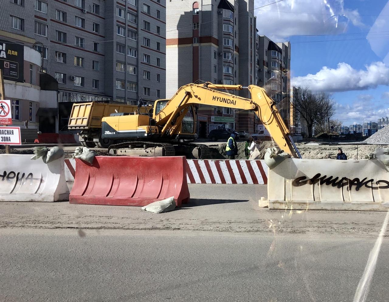 В Брянске активно строят дорогу на улице Советской