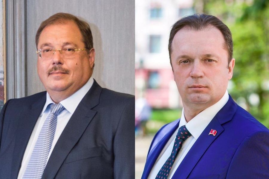 Борис Пайкин иСергей Антошин поздравляют жителей Брянска сгодовщиной Великой Победы