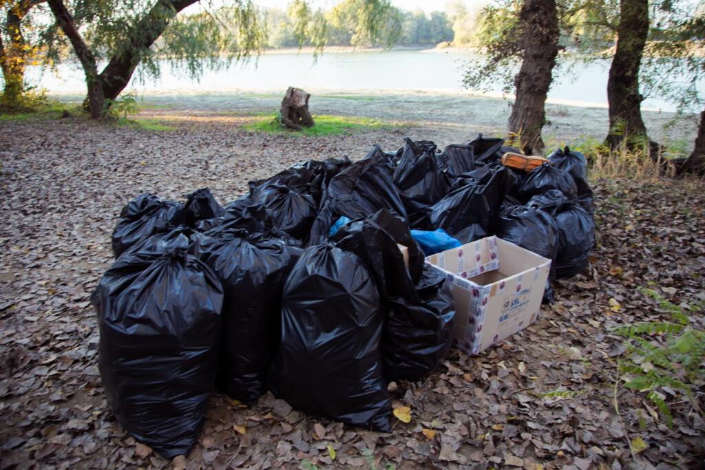 В поселке Белые Берега оперативно убрали мусор на пляже Молодежный
