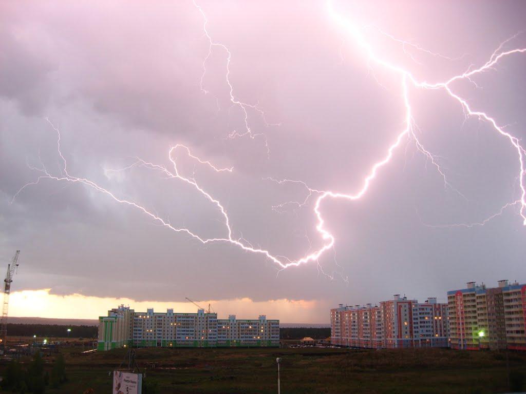В Брянской области из-за грозы и града объявили жёлтый уровень опасности