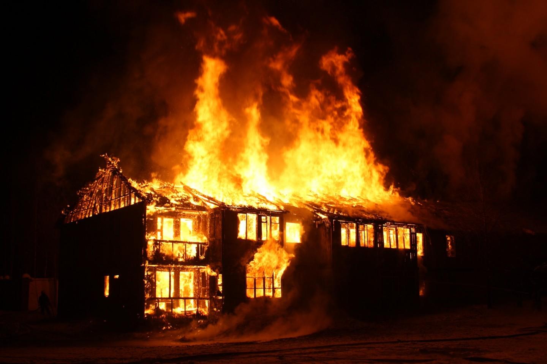 В Климовском районе произошел пожар