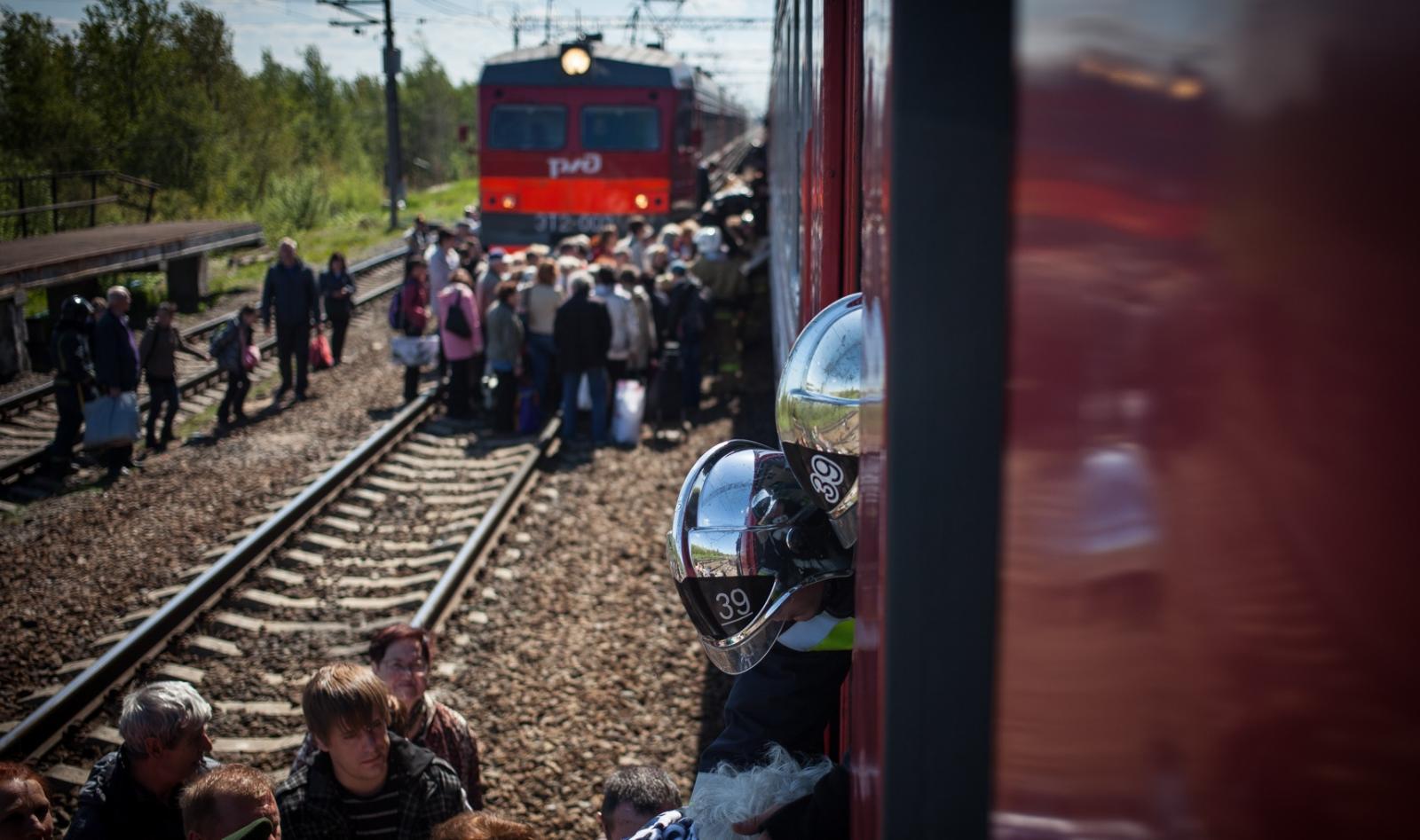 Из-за угрозы взрыва в городе Сельцо эвакуировали пассажиров электрички