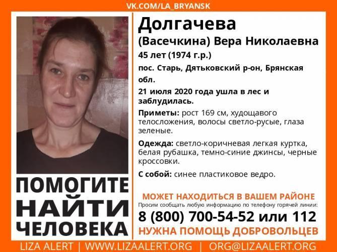 Под Дятьково нашли заблудившуюся в лесу 45-летнюю женщину