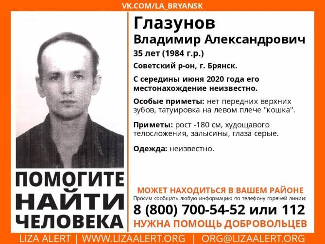 В Брянске пропал мужчина без верхних зубов и с кошкой на плече