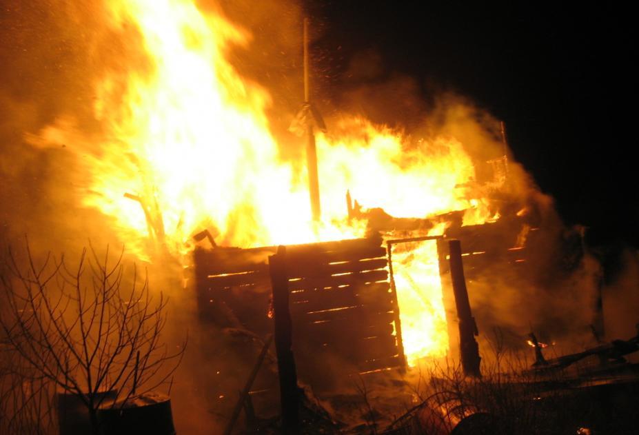 В Суземке сгорела частная баня