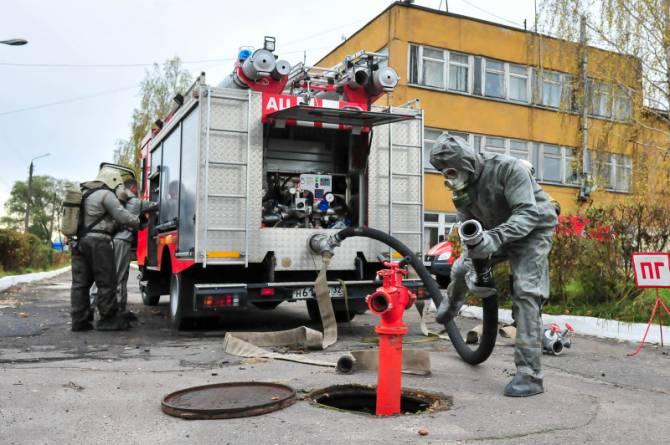 В Брянске спасатели ликвидировали утечку хлора на Бордовичском водозаборе