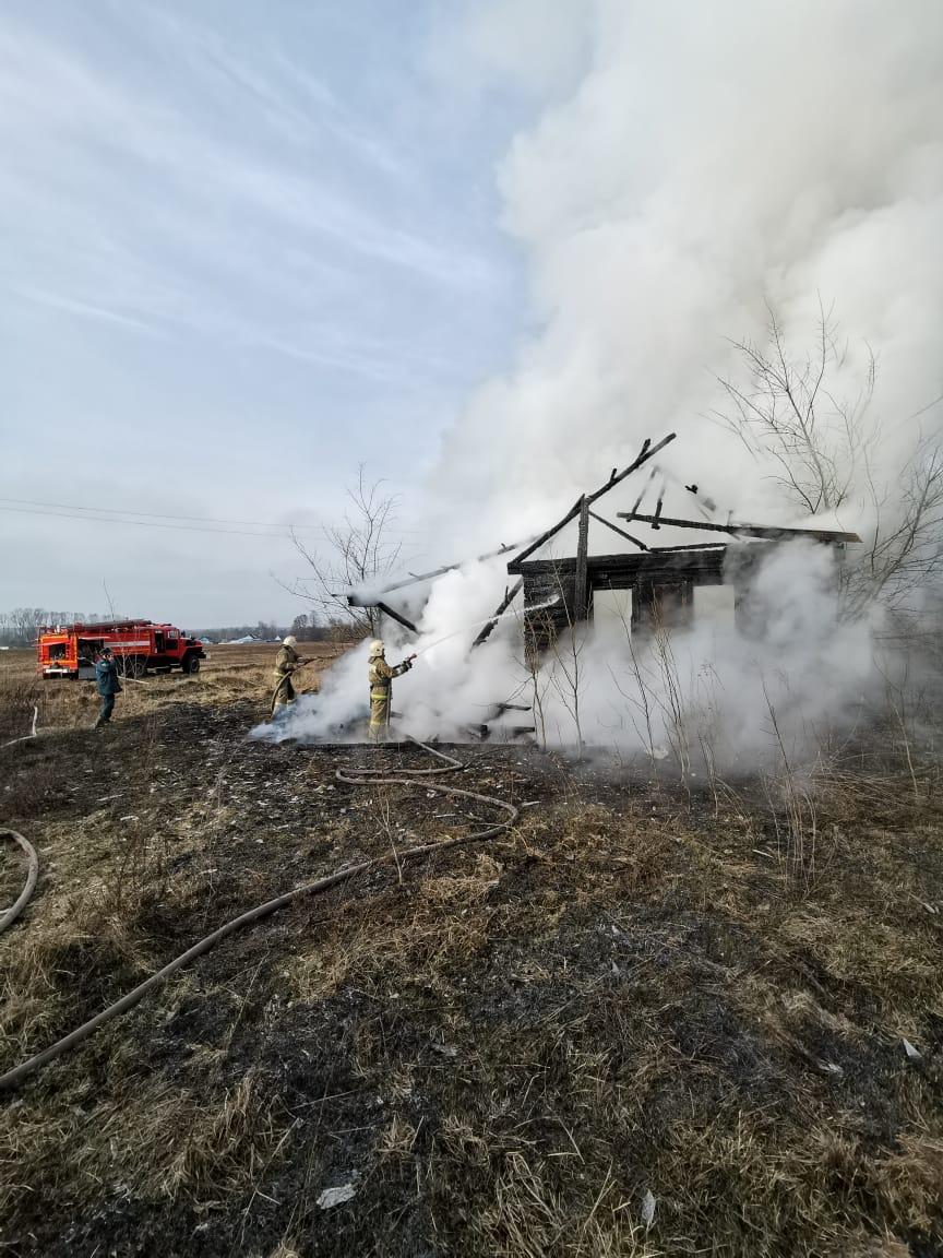 Под Брянском произошел крупный пожар