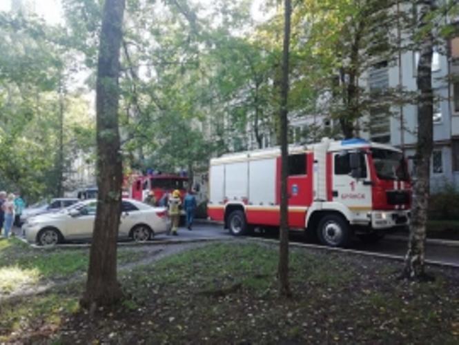 В брянской пятиэтажке загорелась квартира