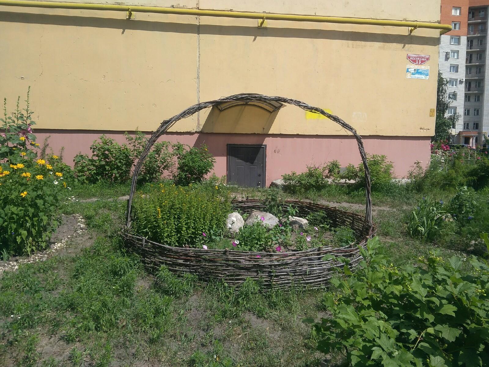 Брянцы оригинально украсили двор на улице Медведева