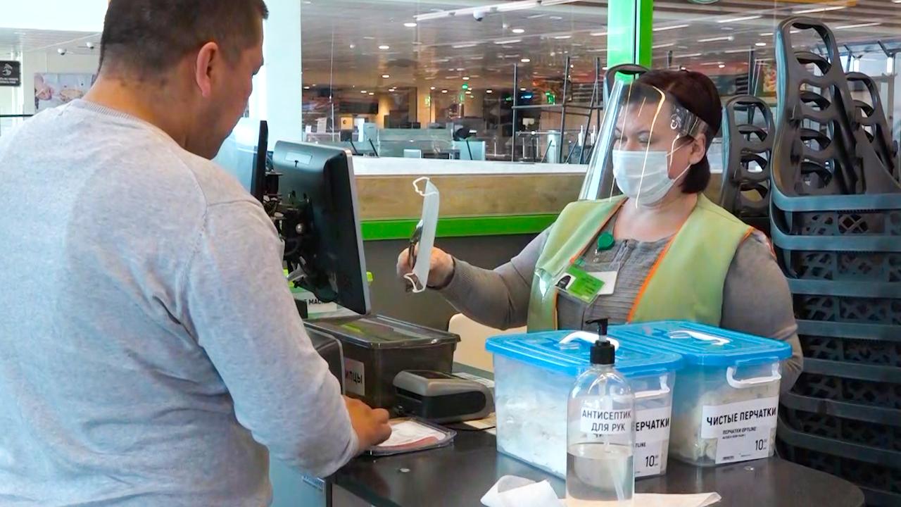 Брянским магазинам разрешили не обслуживать покупателей без масок