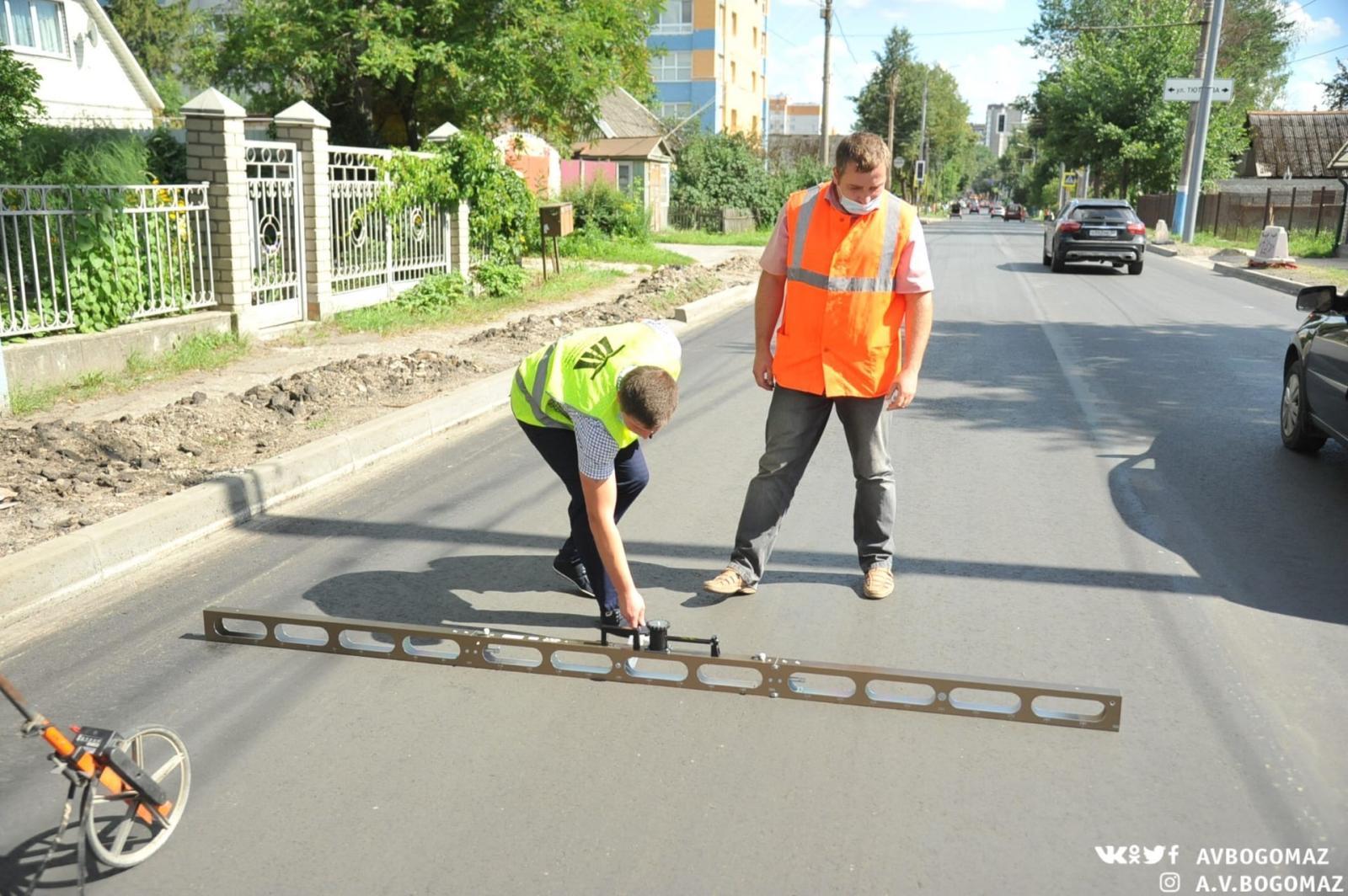 В Брянске повторно уложили новый асфальт на улице Фокина