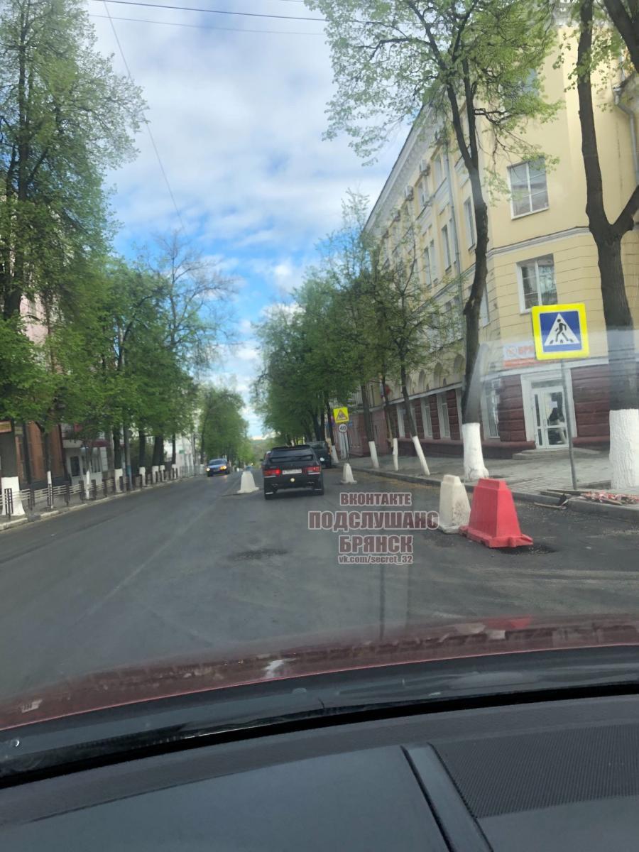 На улице Фокина в Брянске приступили к укладке асфальта