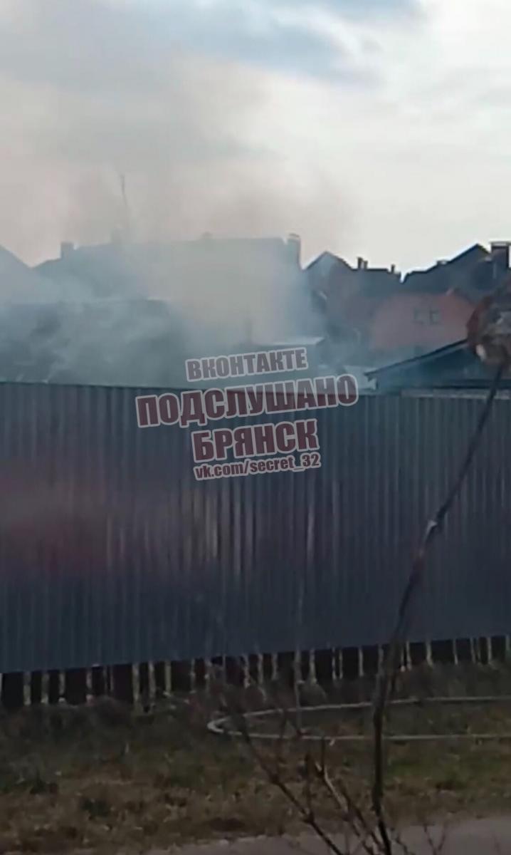 На улице Сельскохозяйственной в Брянске произошел крупный пожар