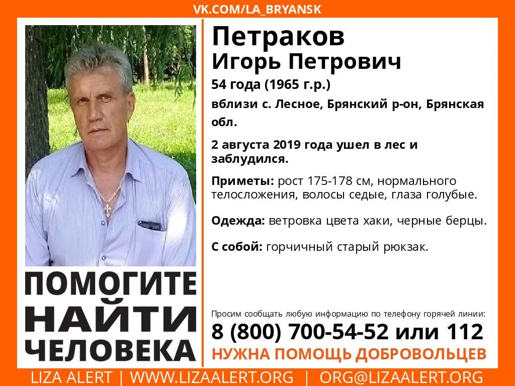 Под Брянском третьи сутки ищут пропавшего 54-летнего мужчину