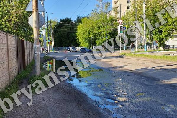 В Брянске делают пешеходные дорожки на улице Бежицкой